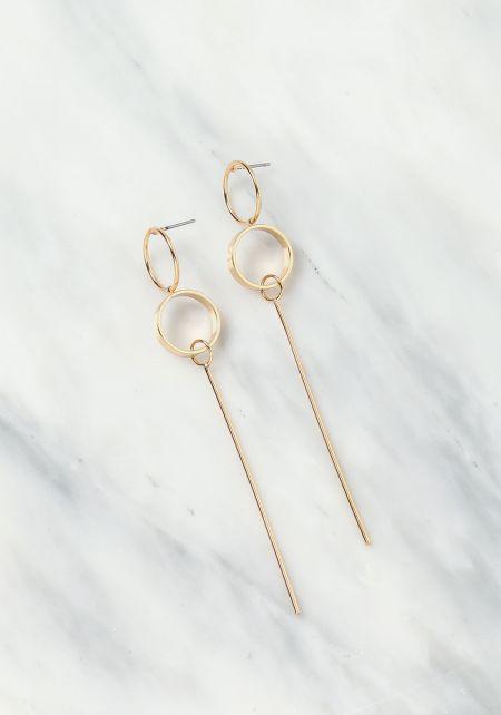 Gold Geo Matchstick Earring