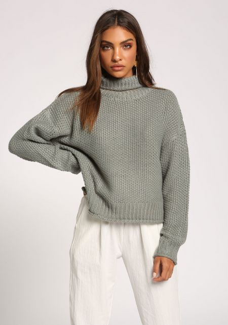 Sage Turtleneck Sweater Top