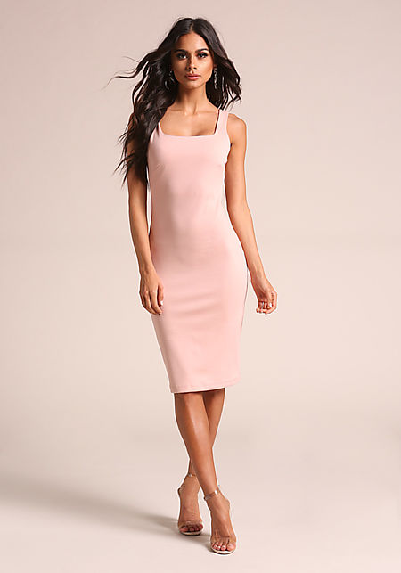 Blush Square Neck Bodycon Dress