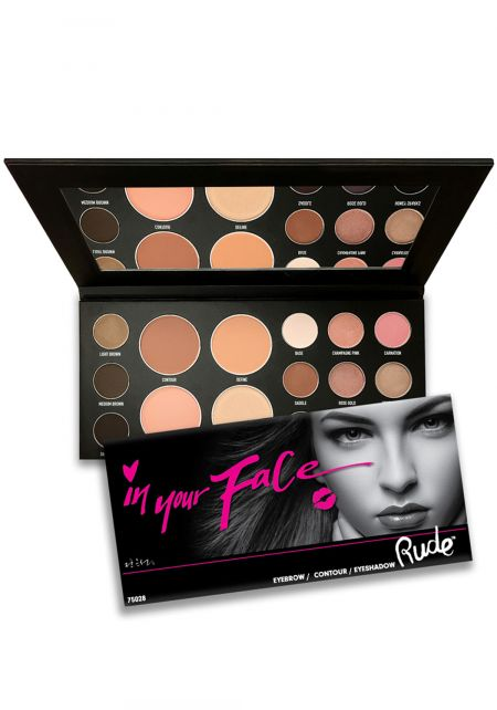 Rude Cosmetics In Your Face 3 In 1 Palette