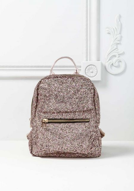 Rose Gold Glitter Backpack