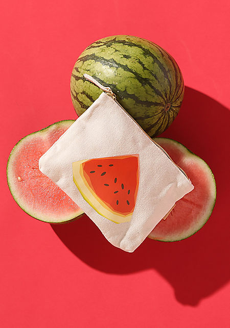 Beige Watermelon Pouch Bag
