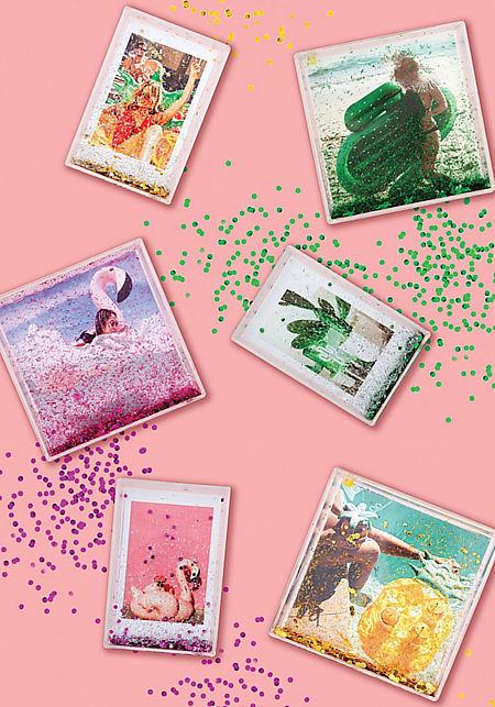 Sunnylife Flamingo Glitter Mini Picture Frame