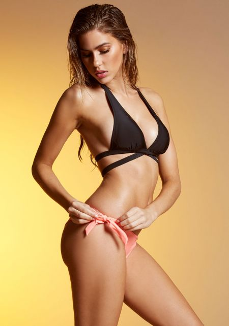 Coral Tied Bikini Bottom