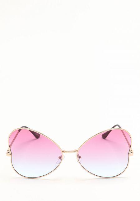 Zero UV Blue Heart Shaped Sunglasses
