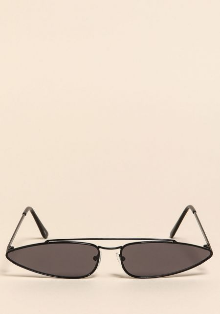 Black Retro Skinny Sunglasses