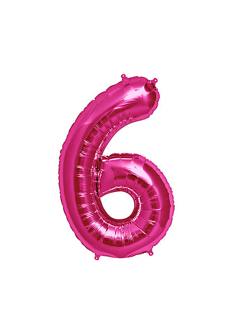 No. 6 Xtra Large Magenta Foil Balloon