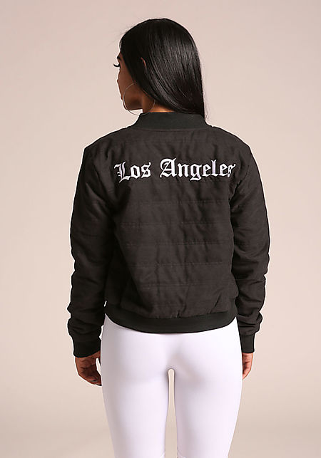Black Los Angeles Bomber Jacket