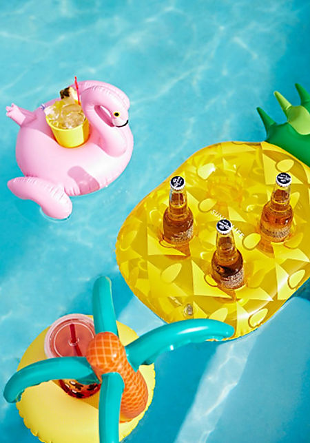 SunnyLife Inflatable Pineapple Drink Holder Float