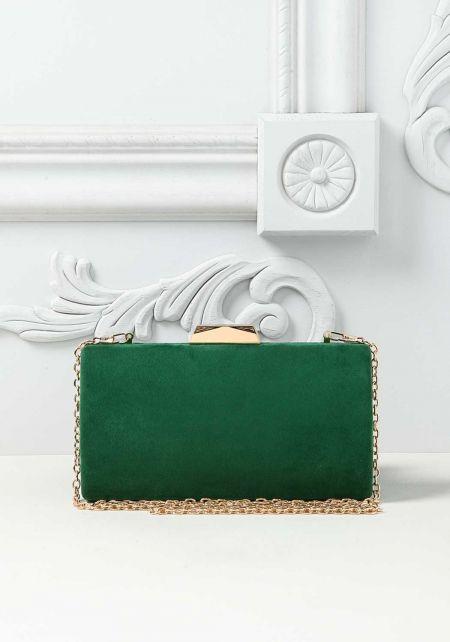 Green Suedette Clutch