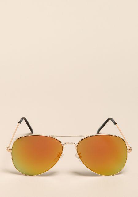 Gold Top Bar Aviator Sunglasses
