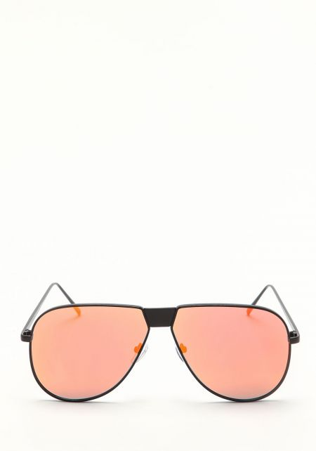 Zero UV Orange Mirrored Aviator Sunglasses