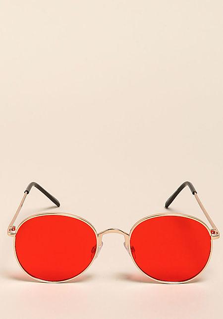Red Round Retro Sunglasses