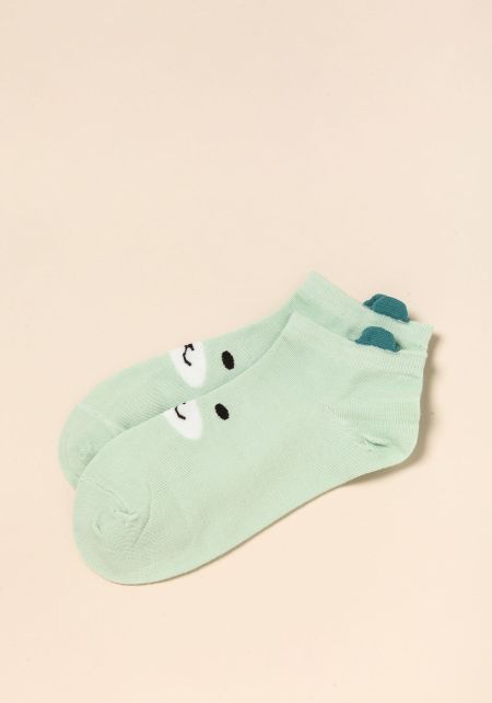 Mint Bear Socks