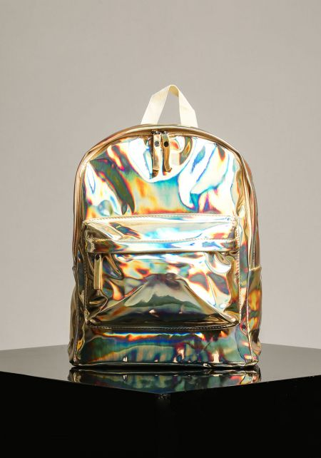Gold Patent Metallic Backpack