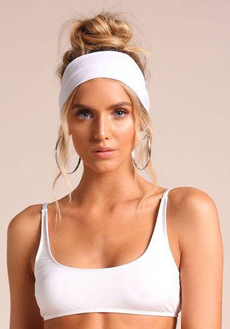 White Knit Headband