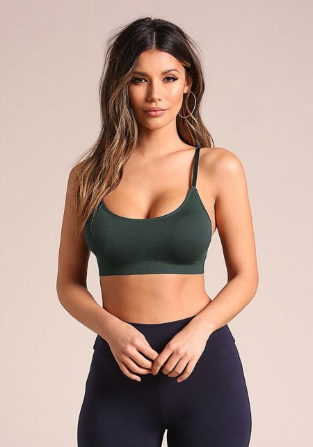 Hunter Green Padded Bra