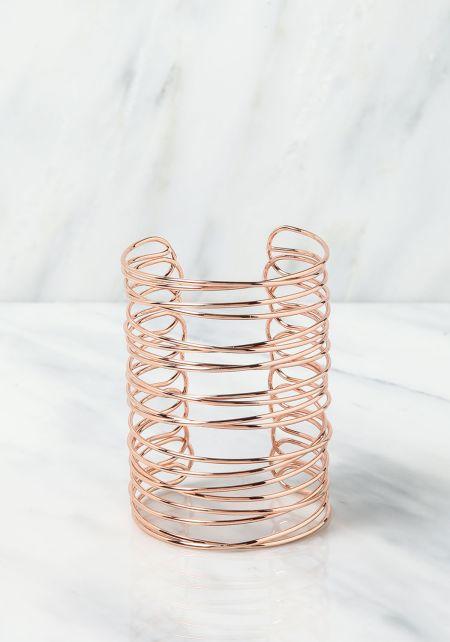 Rose Gold Spiral Cuff Bracelet