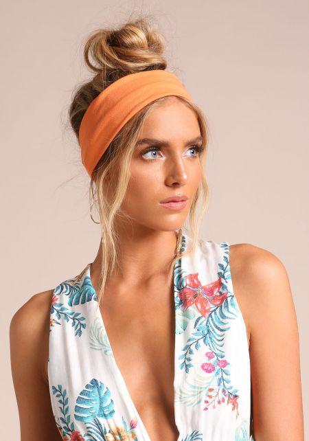 Orange Knit Headband
