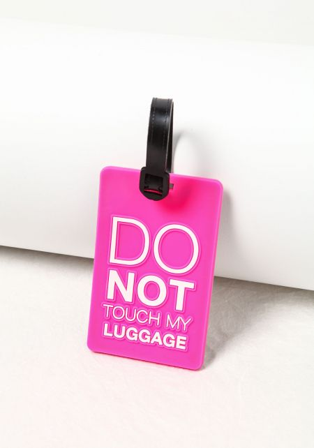 Do Not Touch My Luggage Hang Tag