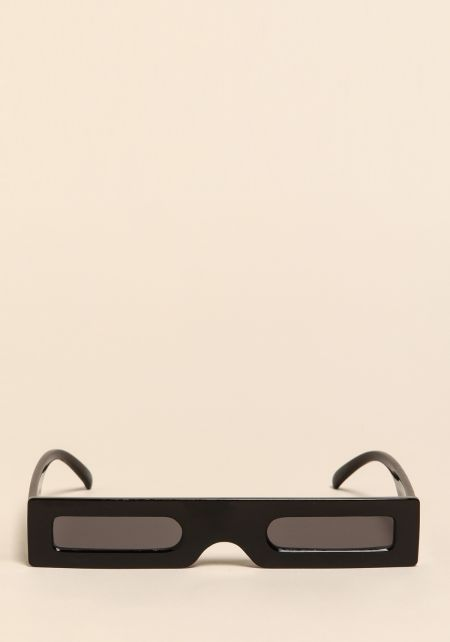 Black Micro Rectangular Sunglasses