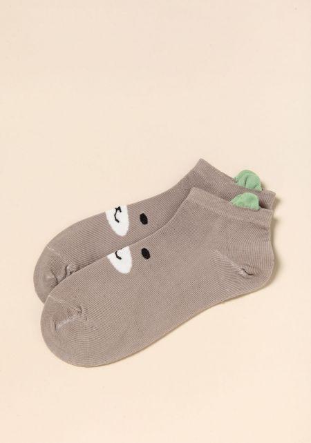 Taupe Bear Socks