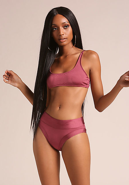 Sangria High Rise Swimsuit Bikini Bottoms