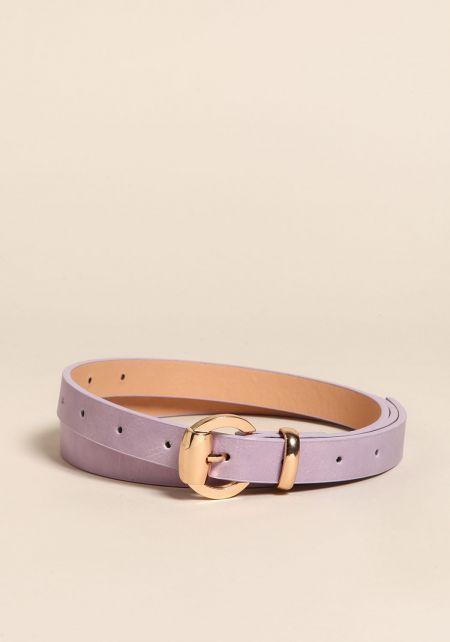 Lilac Thin Leatherette Belt