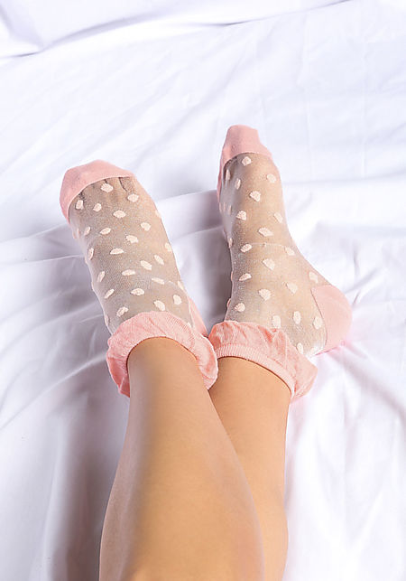 Pink Polka Dots Socks