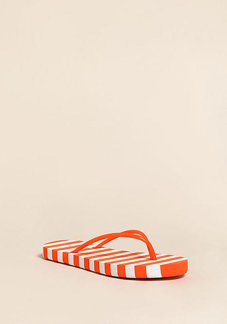 Orange Stripe Thong Sandals