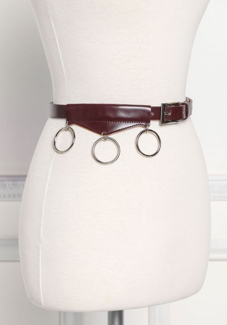 Brown Thin Hoop Belt