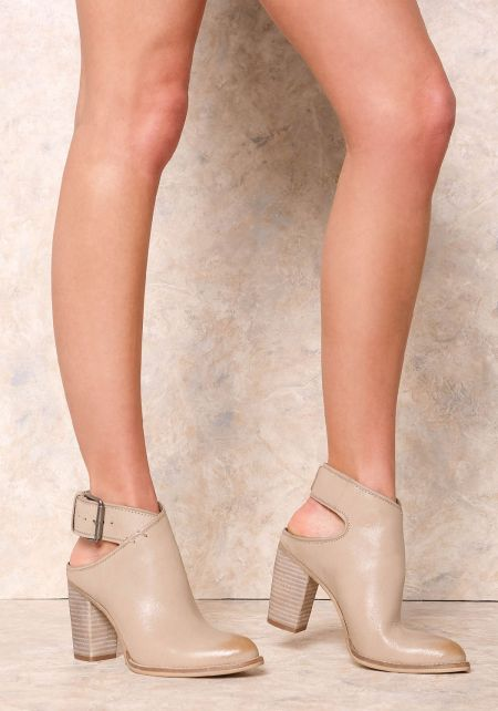 Dolce Vita Taupe Jacklyn Leather Bootie
