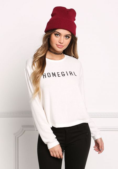 Off White Homegirl Soft Knit Sweater Top