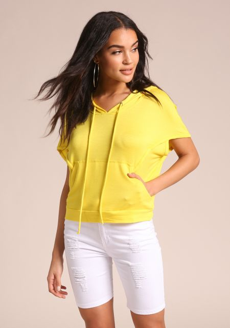 Yellow Active Hooded Tee