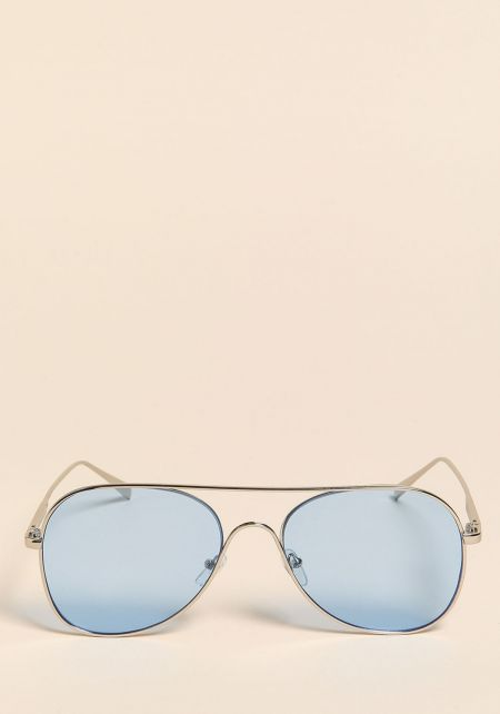 Blue Aviator Sunglasses