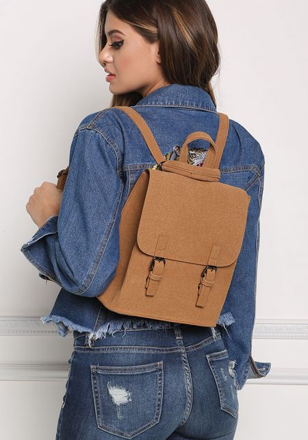Brown Messenger Backpack