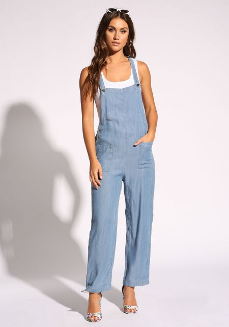 Denim Racer Pocket Overalls