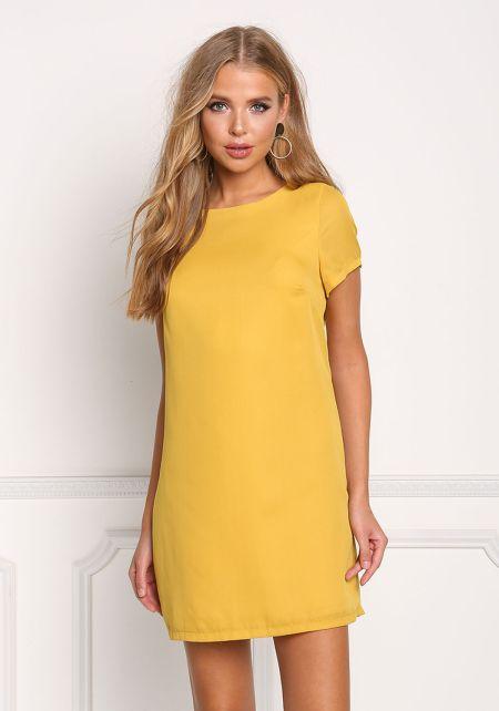 Mustard Basic Shift Dress
