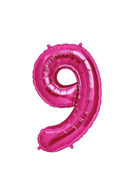 No. 9 Xtra Large Magenta Foil Balloon