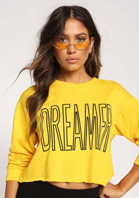 Yellow Skinny Oval Sunglasses