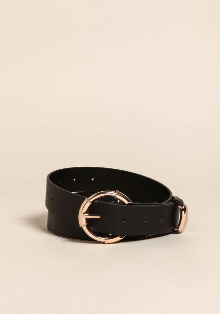 Black Leatherette Belt