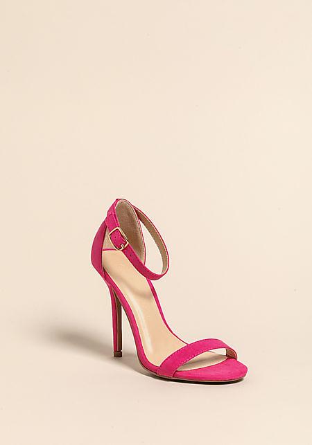 Fuchsia Stiletto Ankle Strap Heels