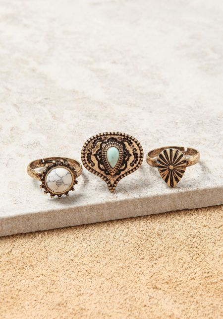 Turquoise Assorted Rings Set