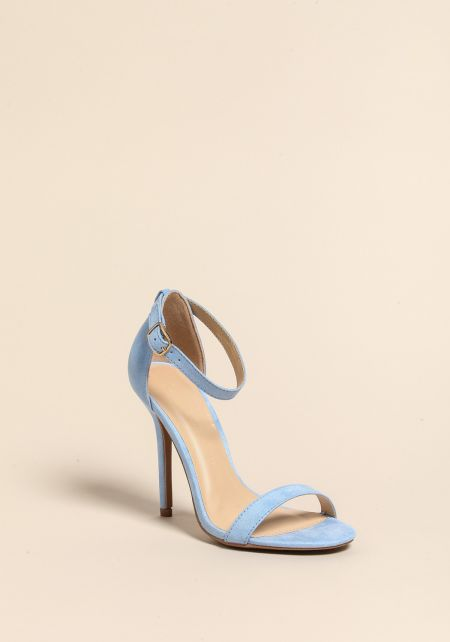 Light Blue Stiletto Ankle Strap Heels