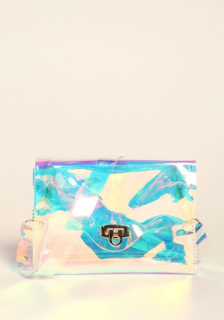 Multi Clear Iridescent Crossbody Bag