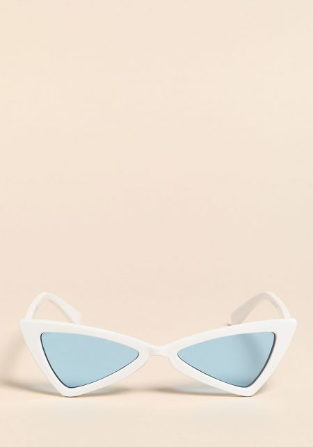 White and Blue Colored Geometric Sunglasses