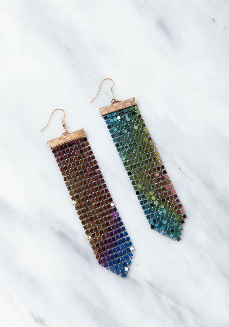 Multi Chandelier Iridescent Earrings