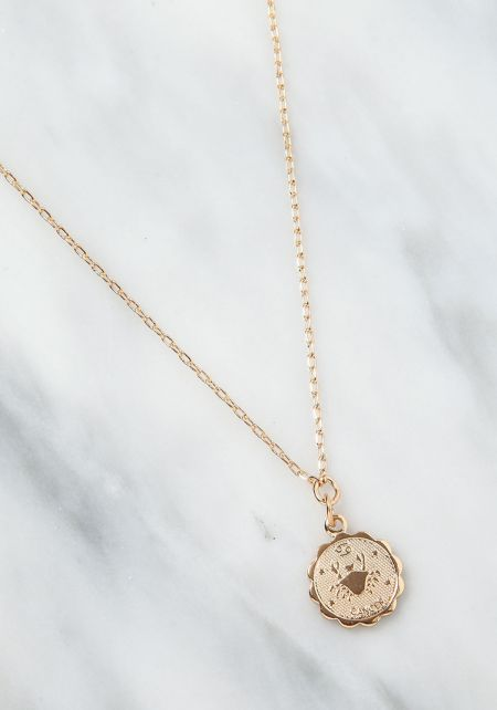 Gold Cancer Zodiac Choker