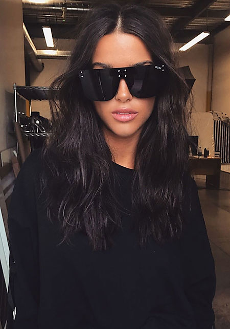 #QUAYxKYLIE Hidden Hills Sunglasses in Black