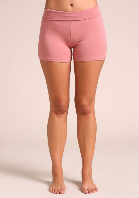 Dusty Rose Jersey Knit Active Shorts
